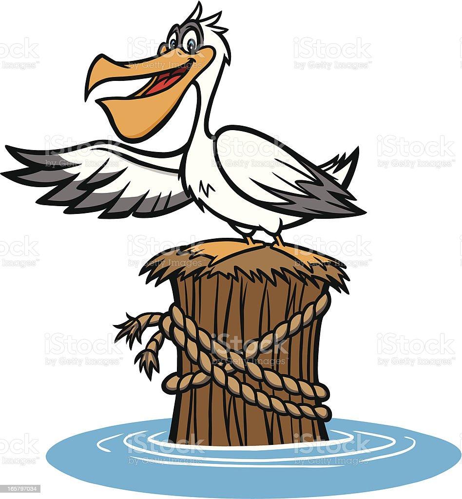 Pelican royalty-free stock vector art