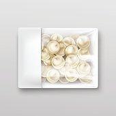 Pelmeni Meat Dumplings Ravioli Tortellini Packaging Package Pack Template Vector
