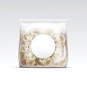 Pelmeni Meat Dumplings Ravioli Tortellini Packaging Package Pack