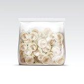 Pelmeni Meat Dumplings Ravioli Tortellini Packaging Package Pack Template
