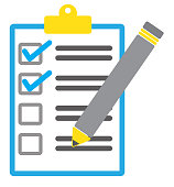 istock pen and checklist icon on white background. flat style. pen and checklist icon for your web site design, logo, app, UI. check mark symbol. 1149231650