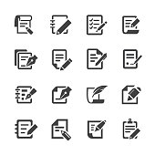 Pen and Paper Icons - Acme Series