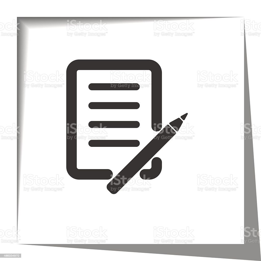 pen and paper paper cut out vector art illustration