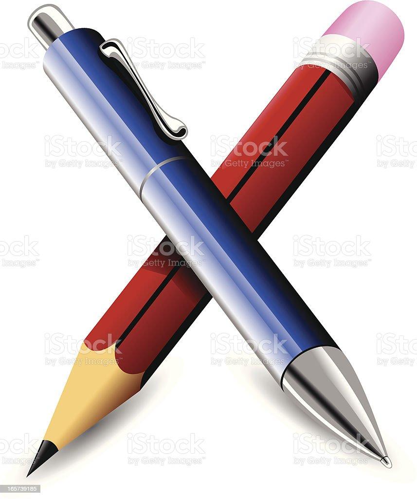 Stift und Bleistift – Vektorgrafik