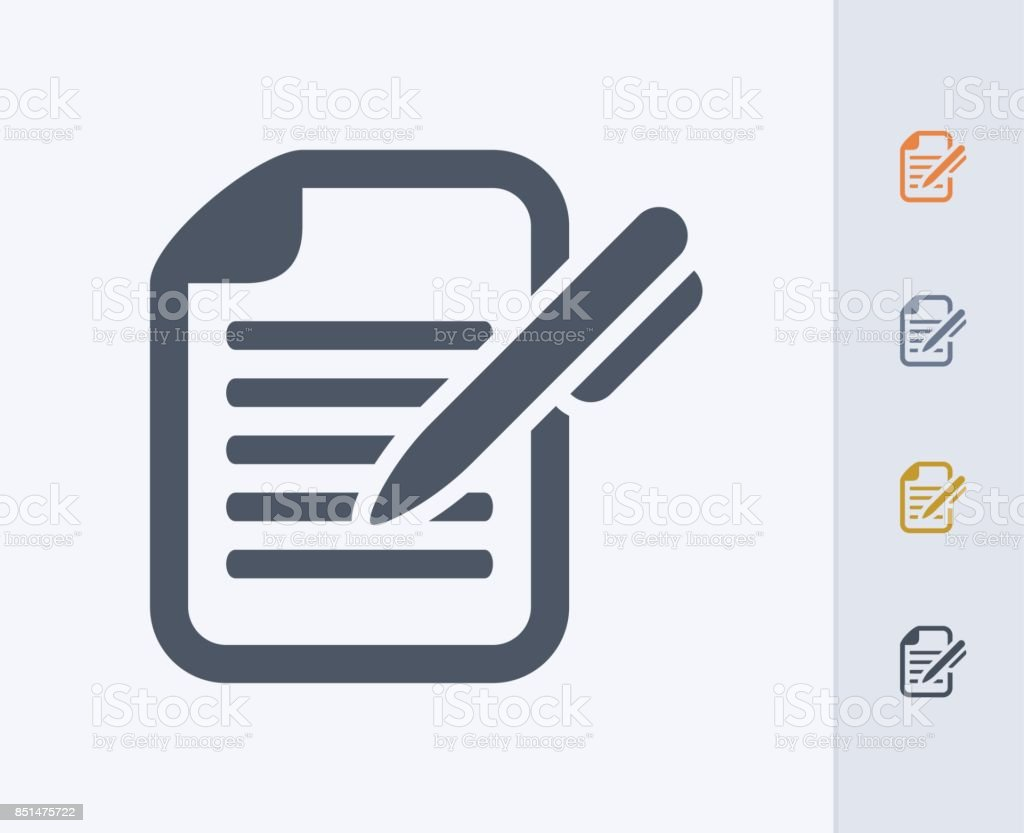 Pen & Document - Carbon Icons vector art illustration