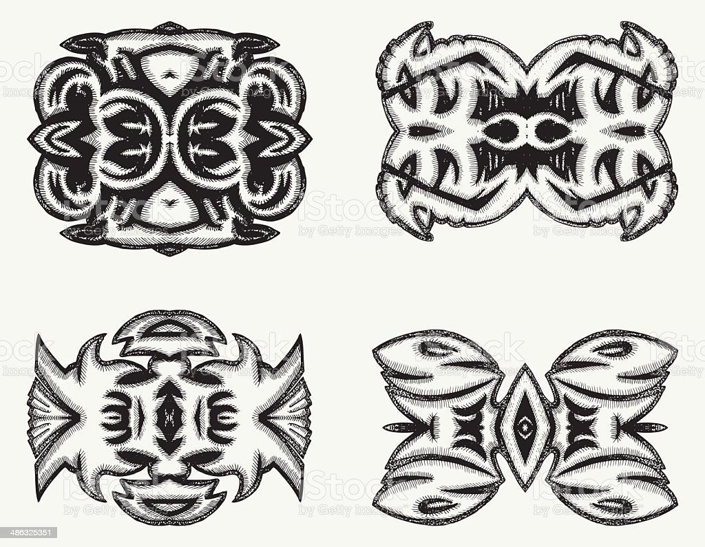 pen drawing ornament set royalty-free pen drawing ornament set stock vector art & more images of abstract