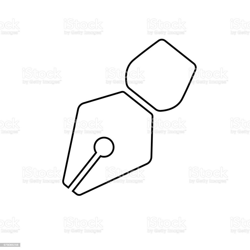 ícone de caneta. liso ícone isolado no fundo branco - ilustração de arte em vetor