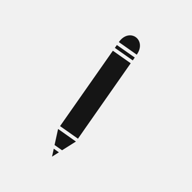 pen icon illustration - ołówek stock illustrations