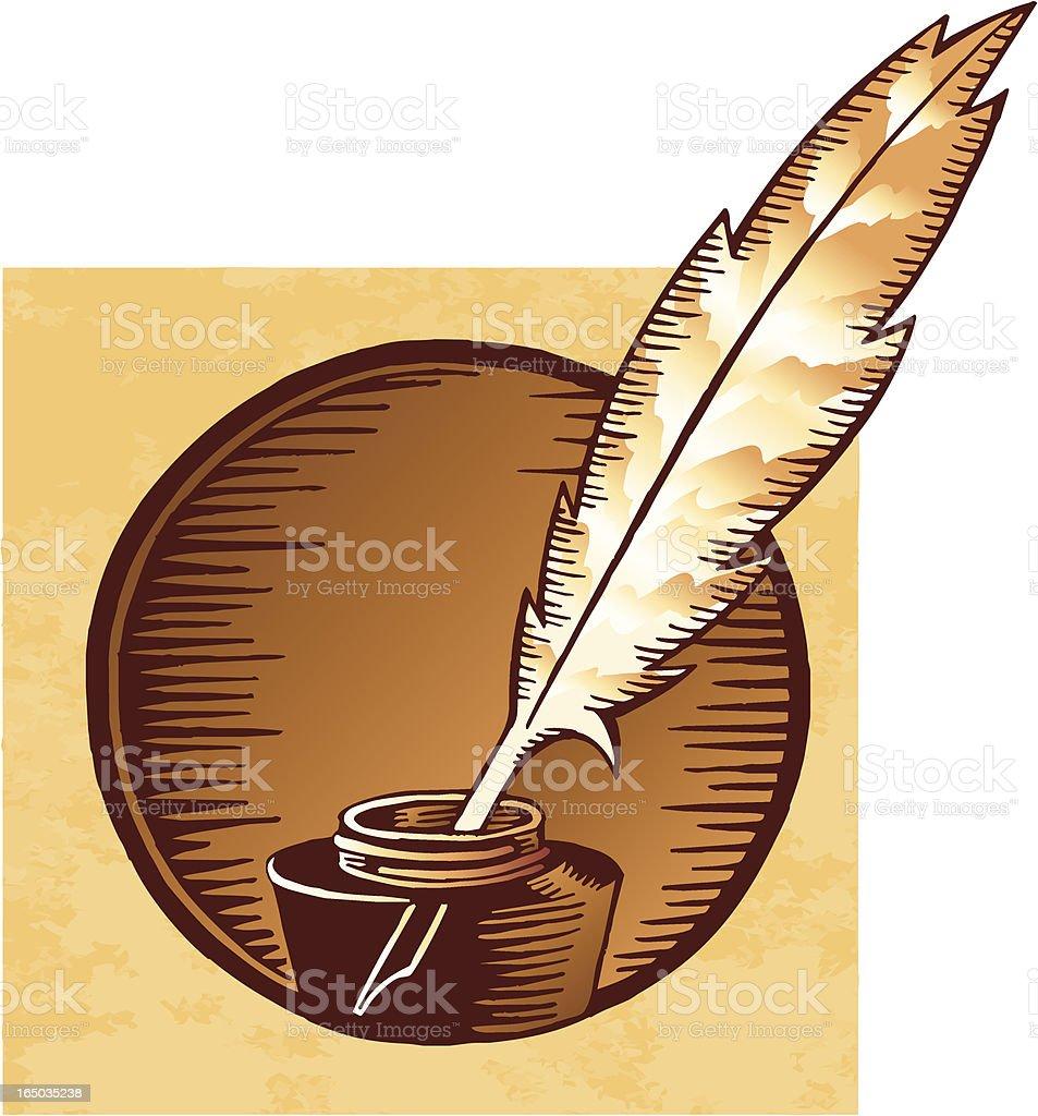 Pen & Ink vector art illustration
