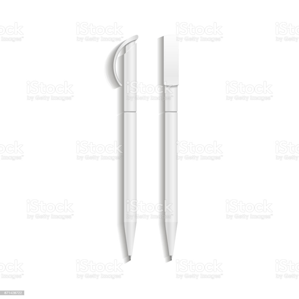 Pen mockup. Illustration isolated on white background vector art illustration