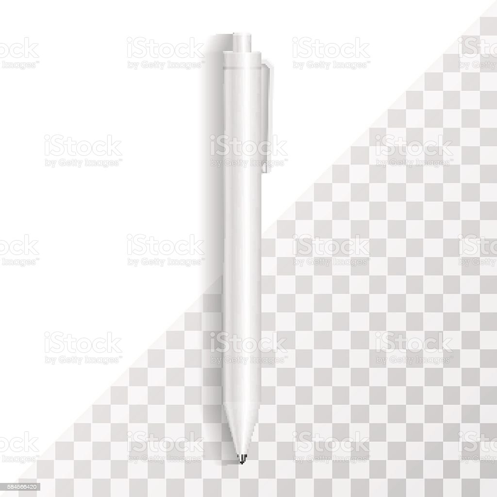 Pen Template. Corporate Identity Mock Up, Branding Mockup Isolat - ilustración de arte vectorial