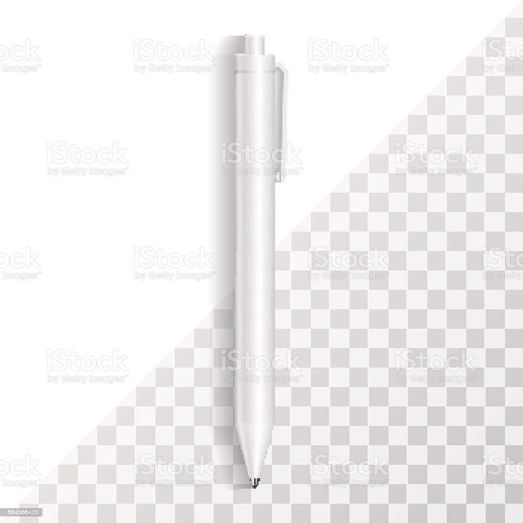 Pen Template. Corporate Identity Mock Up, Branding Mockup Isolat vector art illustration