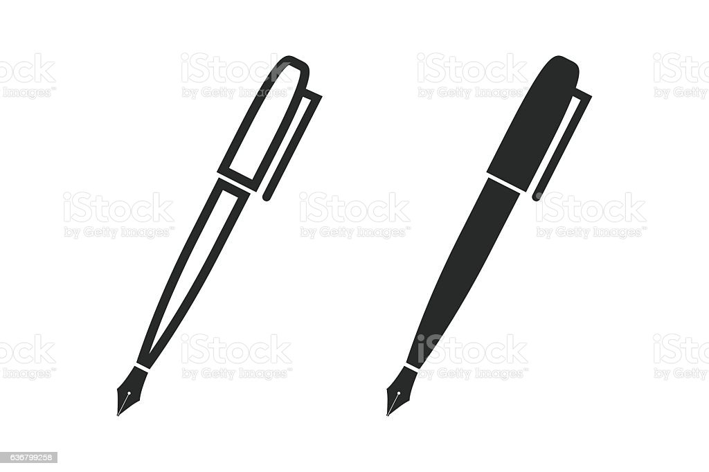 pen vector icon stock vector art more images of business 636799258 rh istockphoto com pen vector png pen vector image