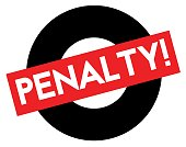 Penalty stamp on white