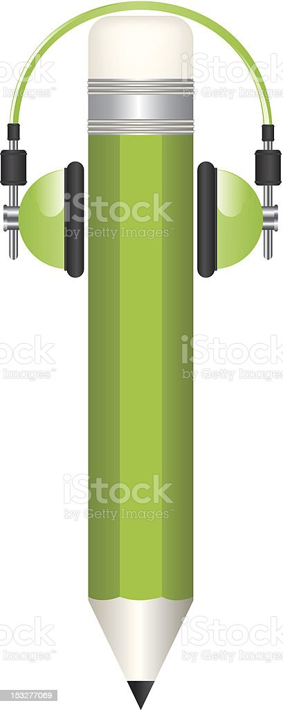 Pencil and headphones illustrations royalty-free pencil and headphones illustrations stock vector art & more images of audio equipment