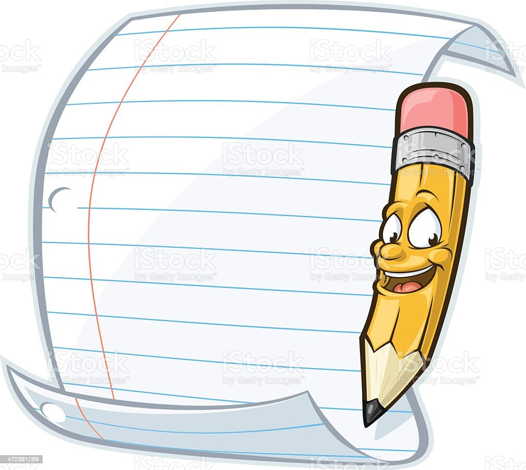 pencil and lined paper stock vector art amp more images of