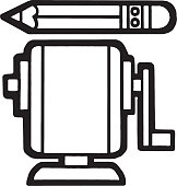 istock Pencil and Sharpener 1328188505