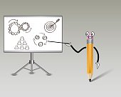 Pencil as a teacher to learn new knowledge