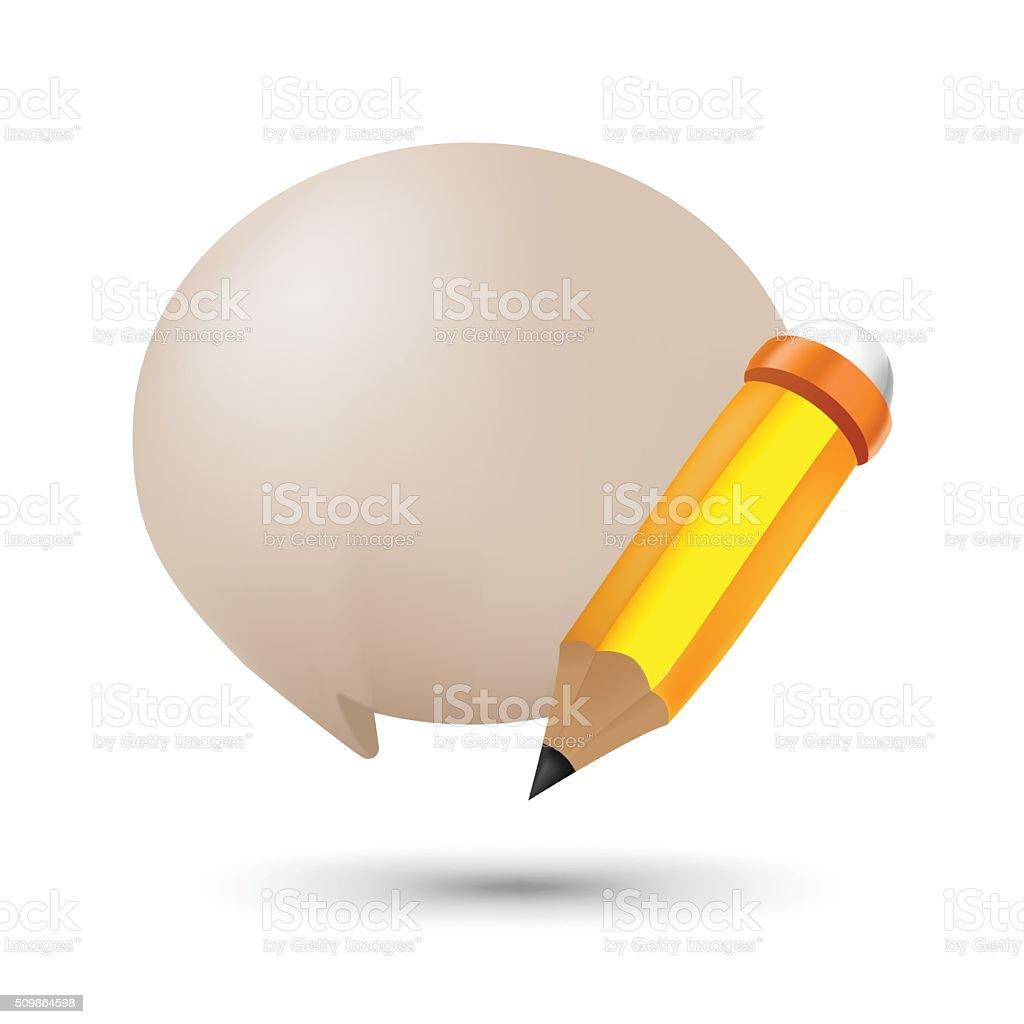Pencil bubble balloon text symbol vector stock vector art pencil bubble balloon text symbol vector royalty free stock vector art biocorpaavc Choice Image