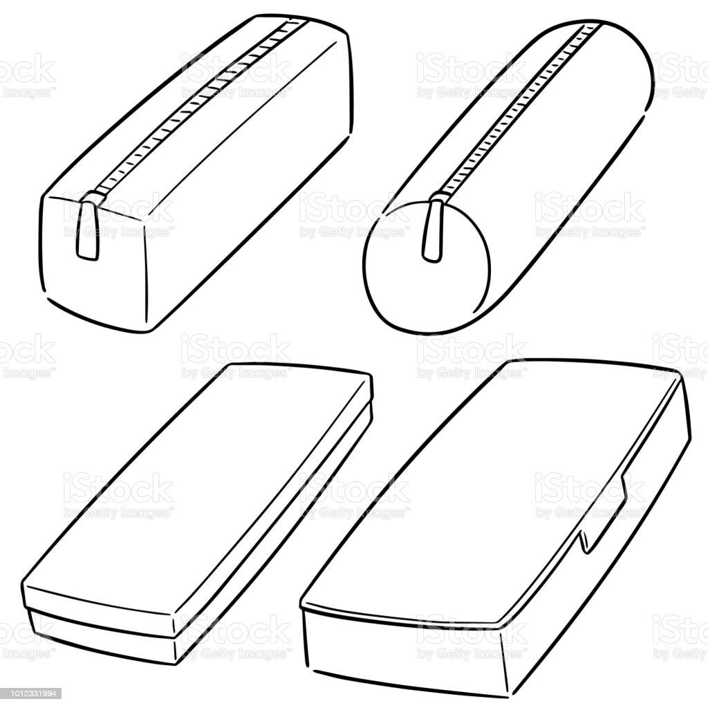 Pencil Case Stock Illustration - Download Image Now - iStock