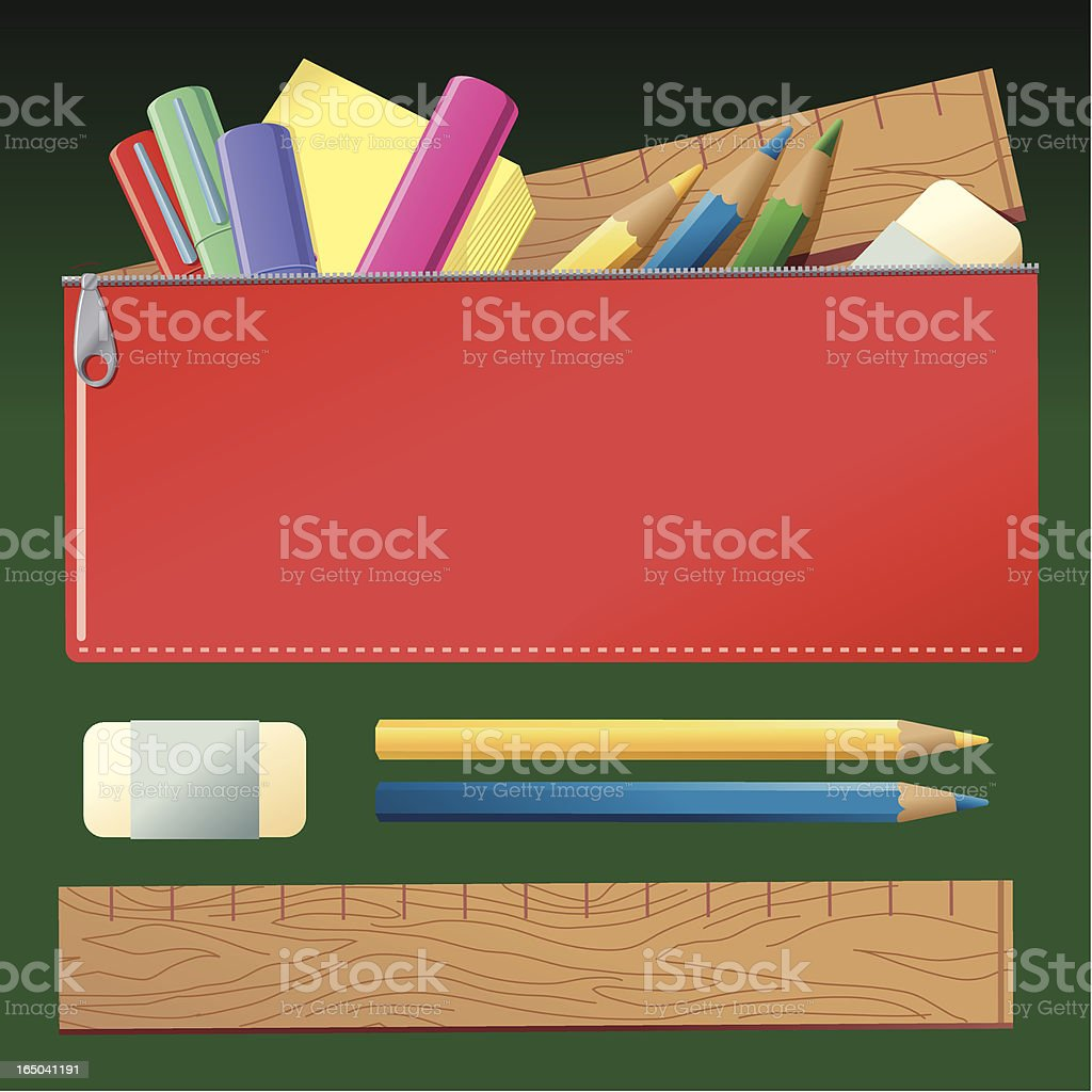 Pencil Case royalty-free pencil case stock vector art & more images of adhesive note