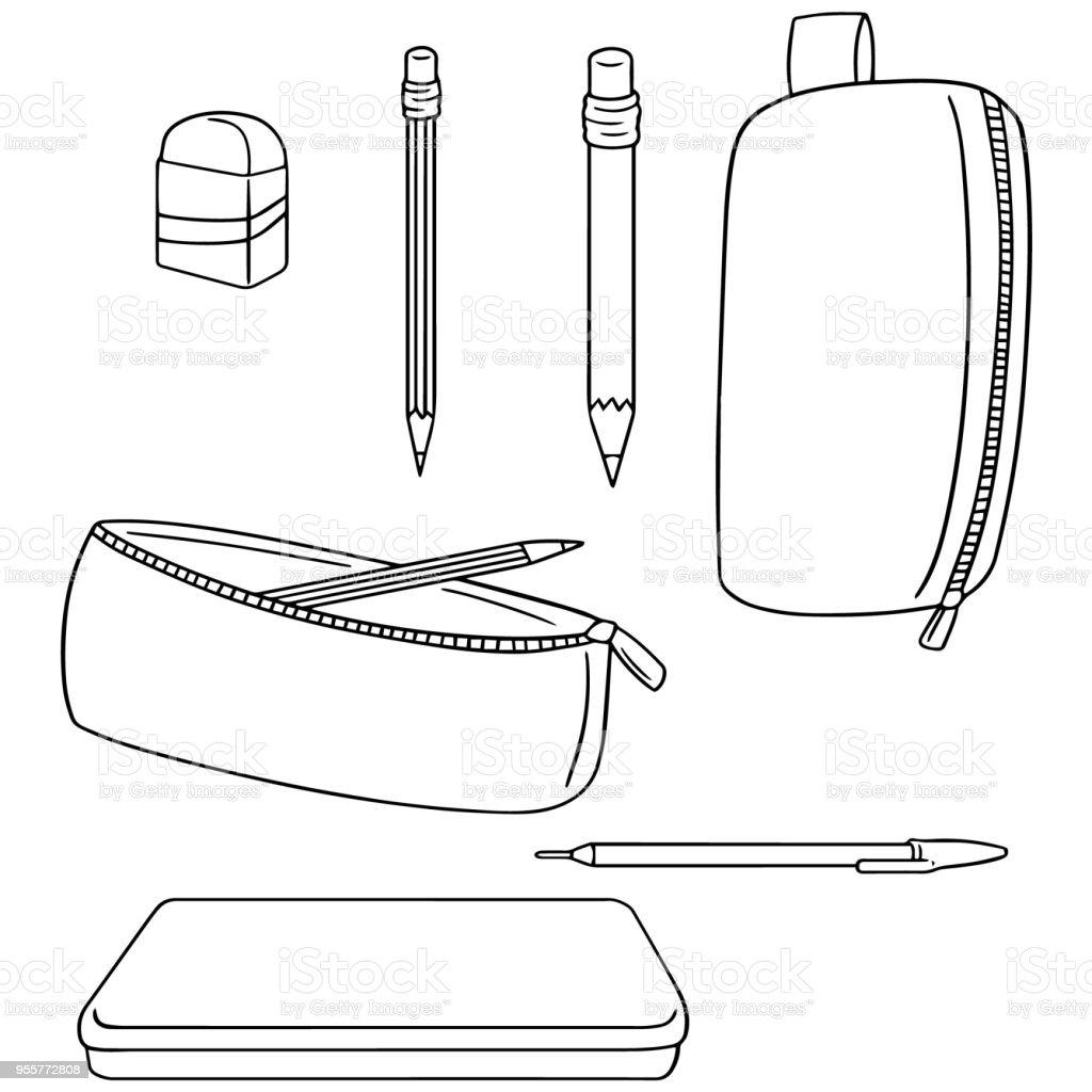 Estojo de Lápis - ilustração de arte em vetor