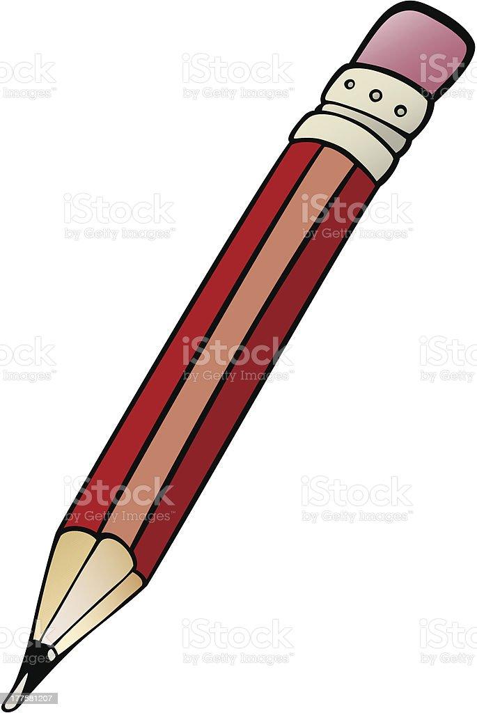 pencil clip art cartoon illustration royalty-free stock vector art
