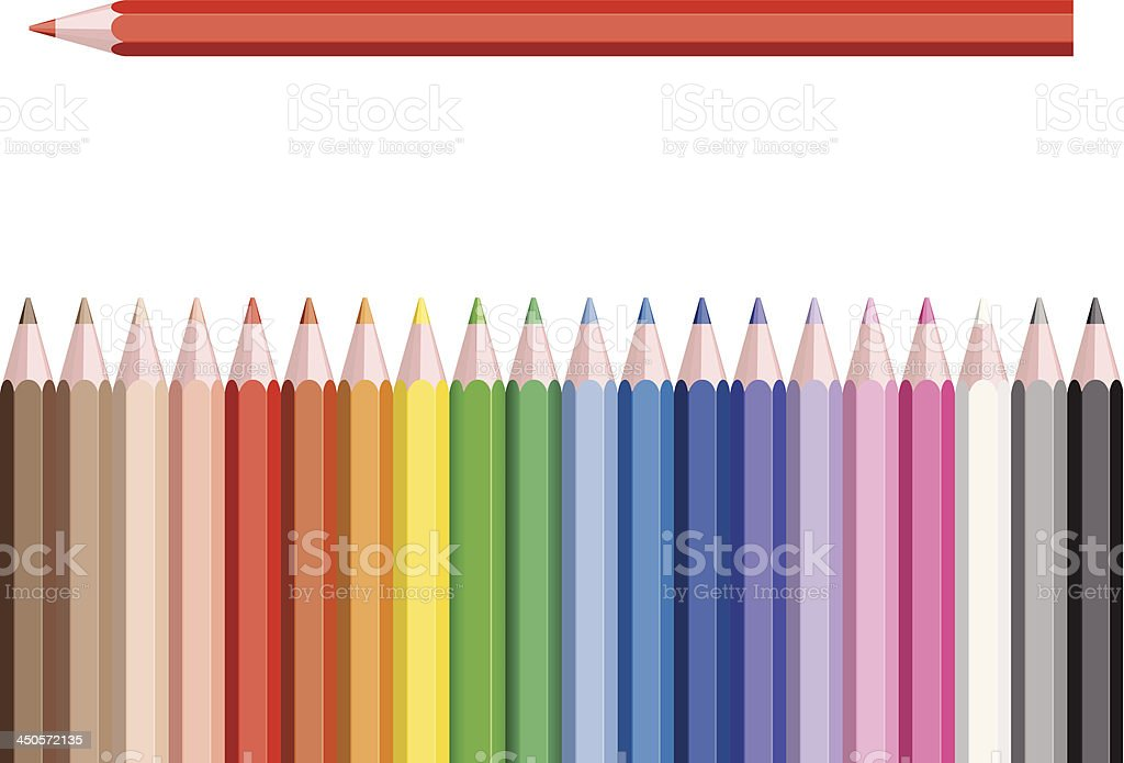pencil color royalty-free stock vector art
