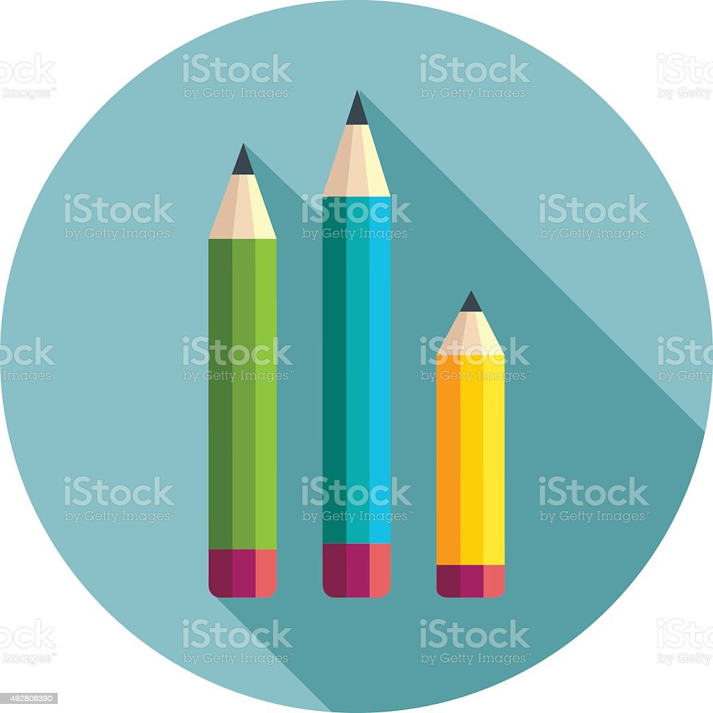 Pencil Colors vector art illustration