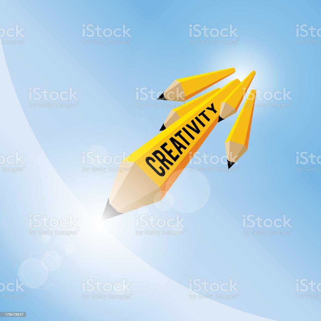 Pencil Creativity Concept royalty-free stock vector art