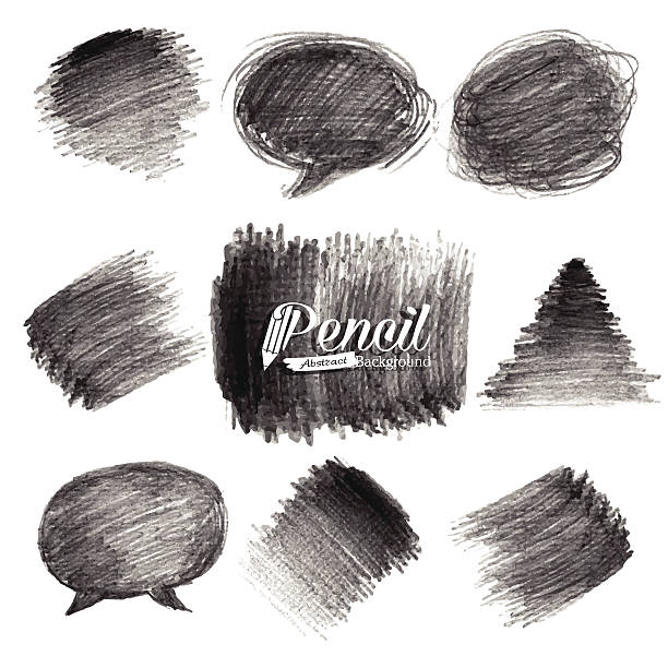 Pencil Drawing Background vector art illustration