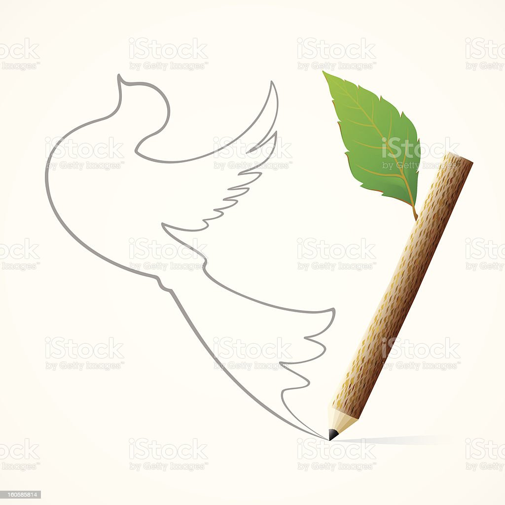 Pencil Drawingbird Stock Vektor Art und mehr Bilder von ...