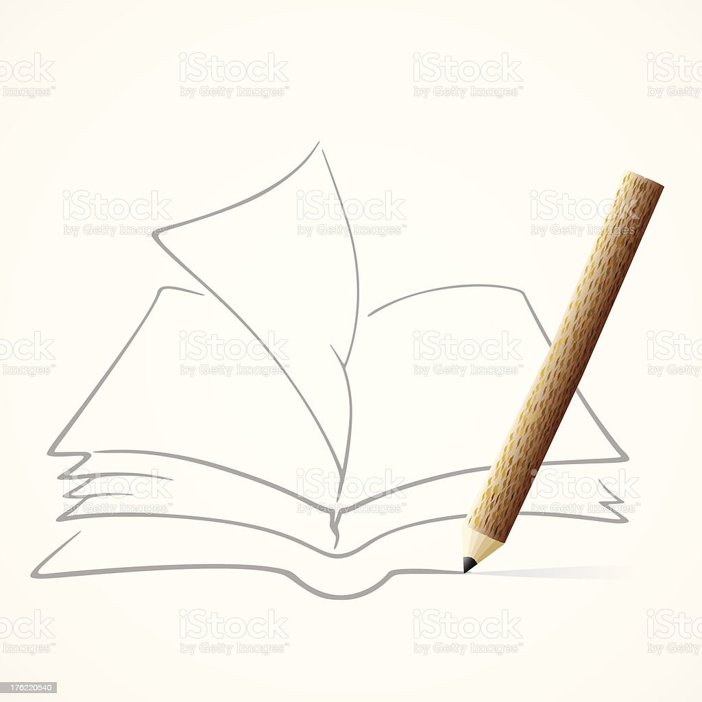 Pencil Drawing Book Stock Vector Art More Images Of Art Istock