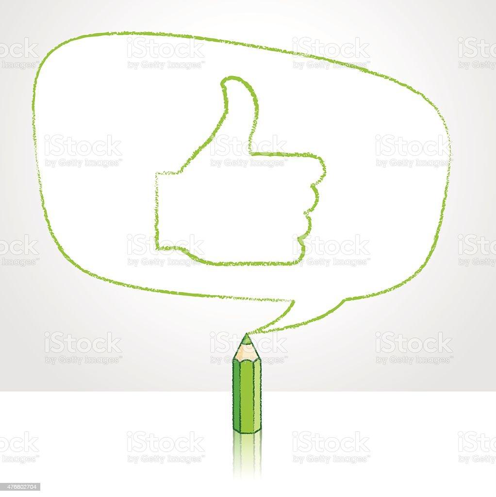 Desenho a Lápis, como ícone em forma de balão Ireggular discurso - ilustração de arte em vetor