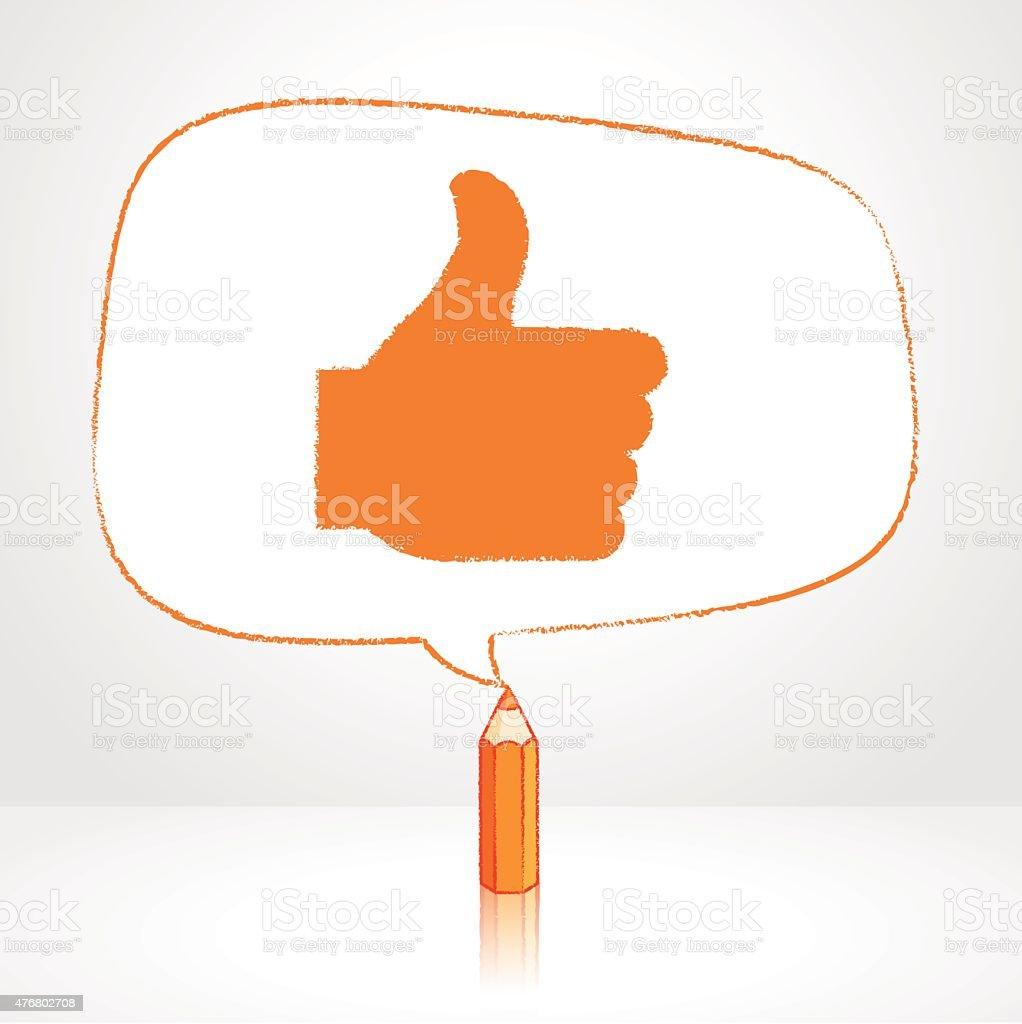 Desenho de lápis Irregular como ícone em formato de discurso de balão - ilustração de arte em vetor