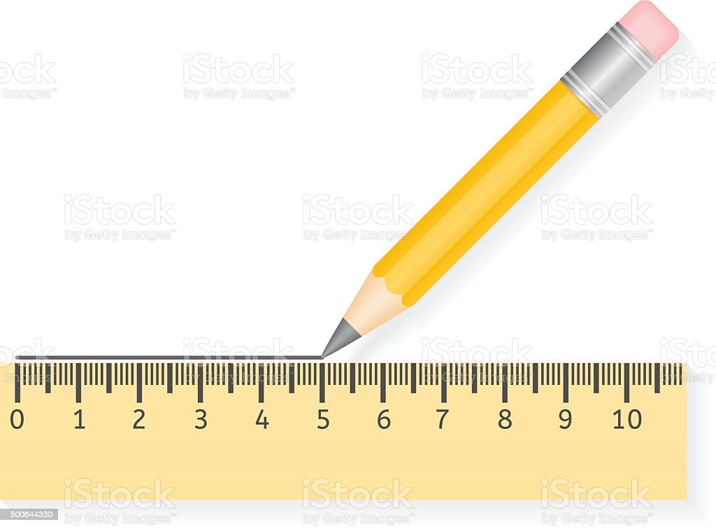 Drawing Lines With A Ruler Ks : Pencil drawing line stock vector art more images of