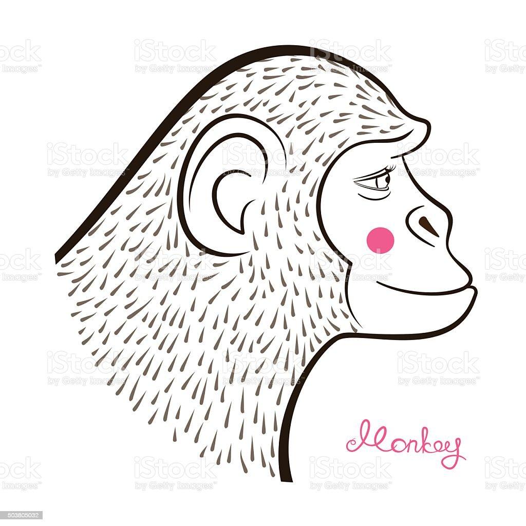 Disegno A Matita Di Scimmia Illustrazione Vettoriale Immagini