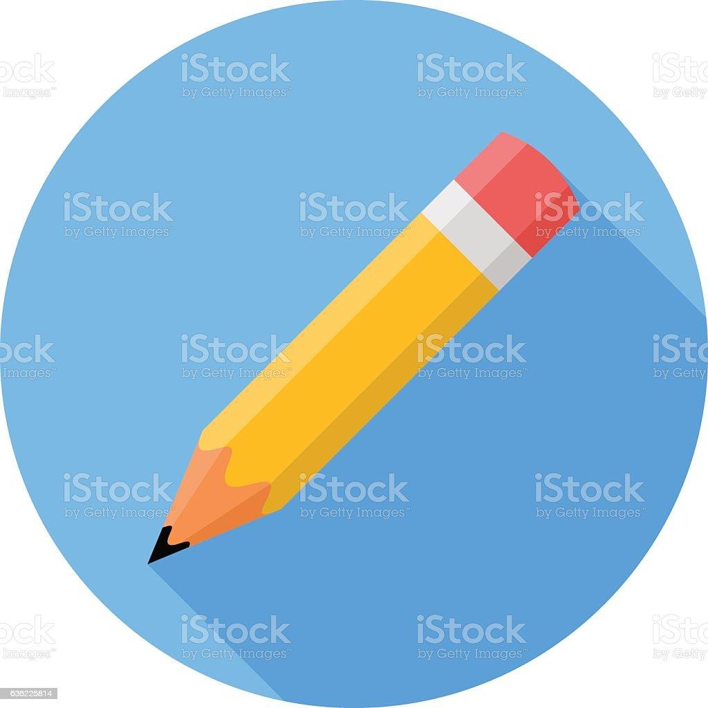 Pencil. Flat Design vector icon vector art illustration