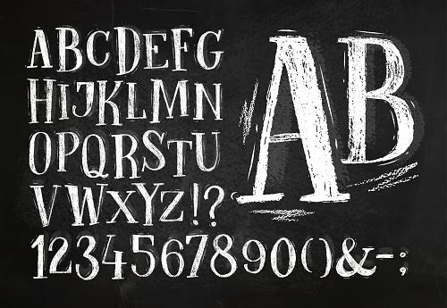 Pencil font alphabet