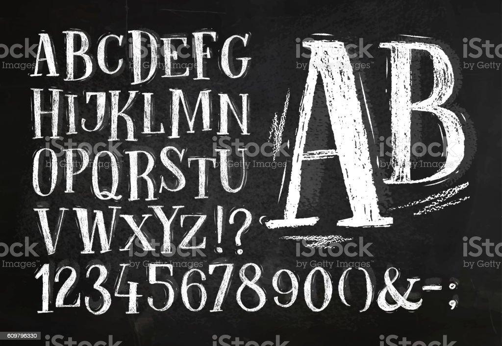 Pencil font alphabet - ilustração de arte em vetor