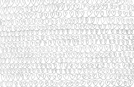 Pencil hearts chains background pattern