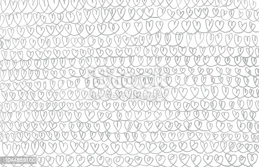 istock Pencil hearts chains background pattern 1044859100