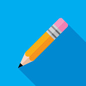 istock Pencil Icon Flat 1078269892