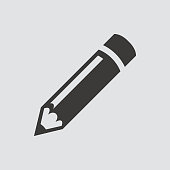 istock pencil icon isolated of flat style. 1161405325