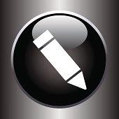Pencil icon on black button
