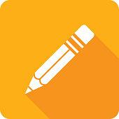 istock Pencil Icon Silhouette 1125256978