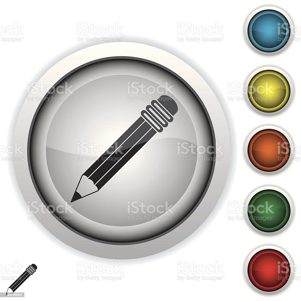 pencil icon royalty-free stock vector art