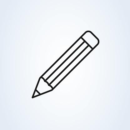 Pencil Icon Vector Perfect Black Pictogram Illustration On ...
