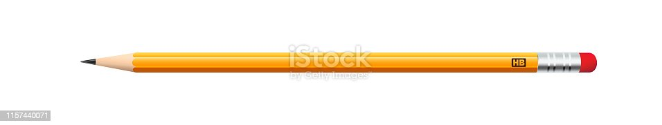Pencil in a realistic style for various web sites.