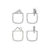 istock Pencil in pocket icon 1045011964